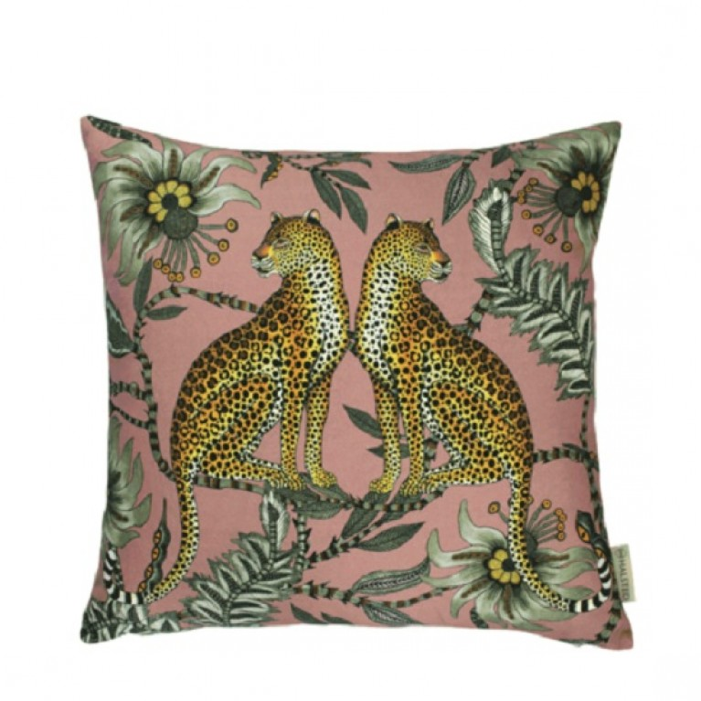 Lovebird Leopard Magnolia Cotton Cushion