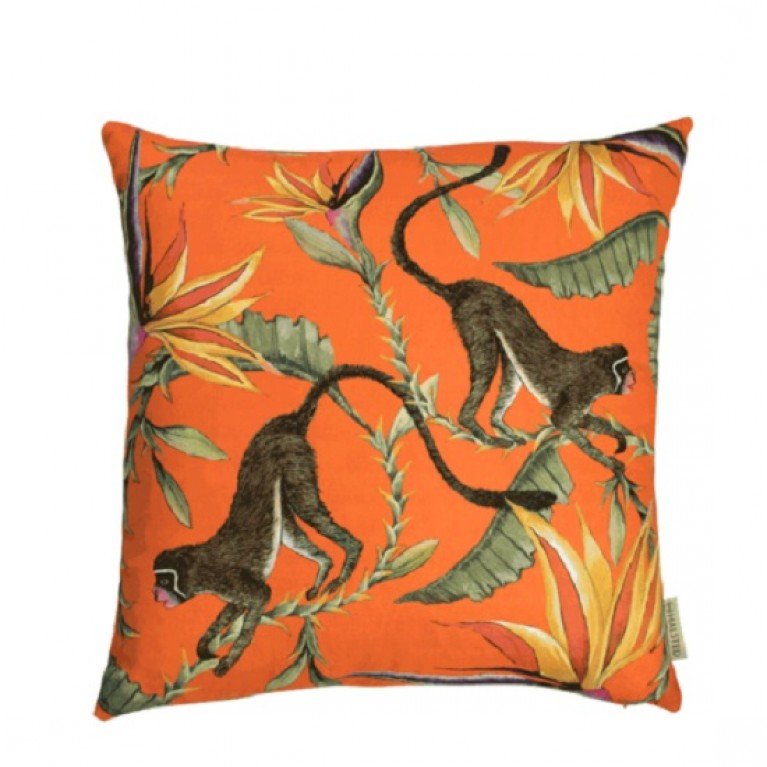 Monkey Paradise Flame Cotton Cushion