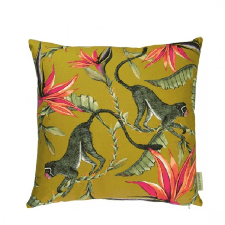 Monkey Paradise Swamp Cotton Cushion